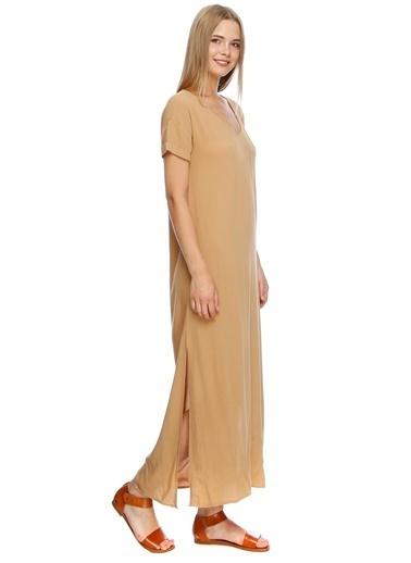 Fridays Project Uzun Şifon Elbise Ten
